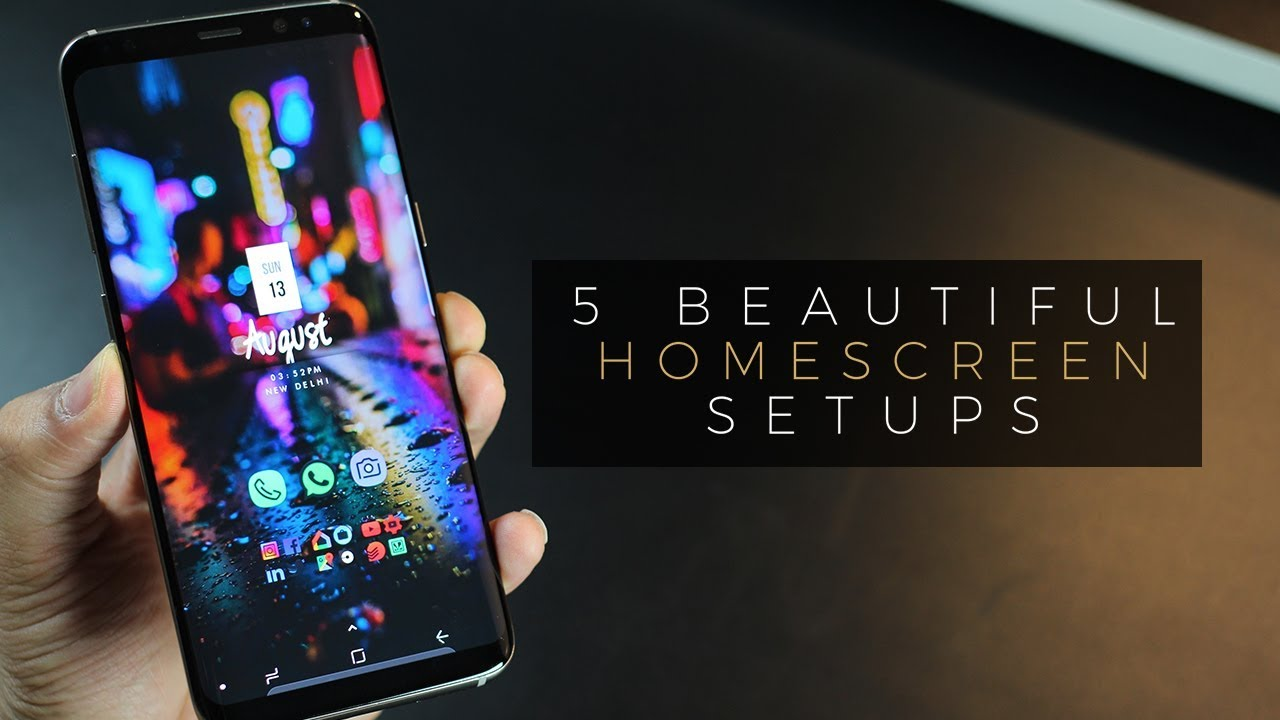 5 Beautiful Android Homescreen Setup On Galaxy S8 Doovi