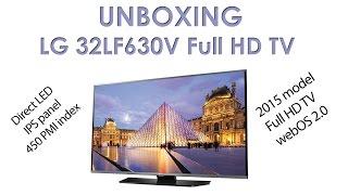 02. LG LF630V webOS 2 TV unboxing