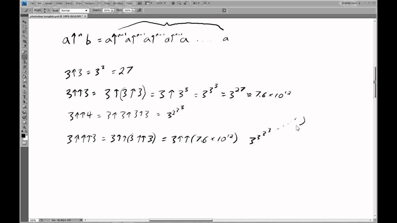Extremely Large Numbers 3 Knuth Uparrow Notation Youtube