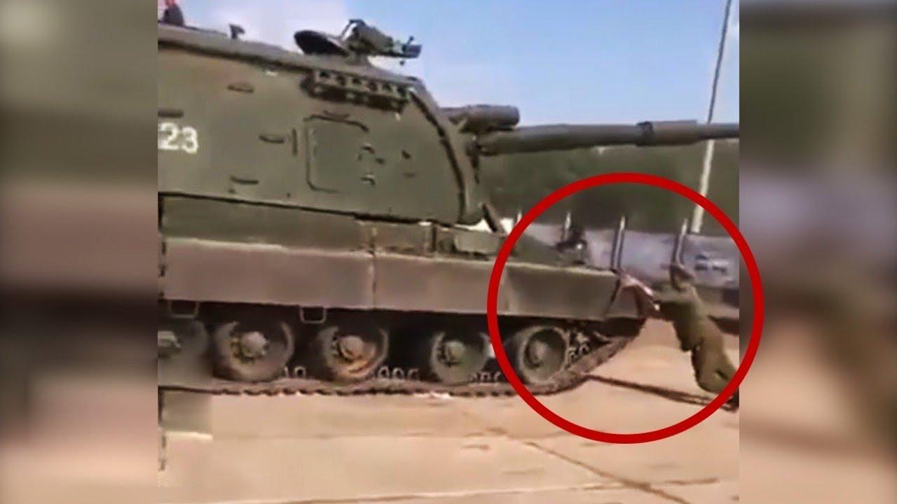 هذا هو ما سيحدث عندما تنسى الضغط على فرامل اليد في الدبابة