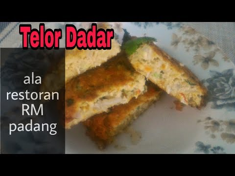 Telur Dadar Ala Restoran RM Padang