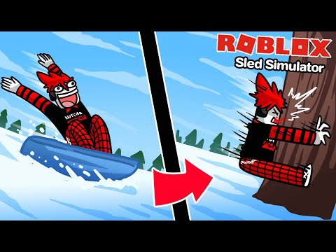 Roblox : Sled Simulator 🛷 จำลองการไถลลงจากภูเขา เพื่อแลกเงิน !!!
