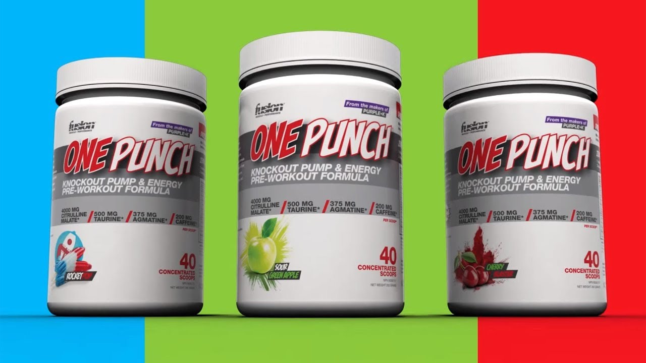 Fusion One Punch pre-workout is here for muscle pumps and energy