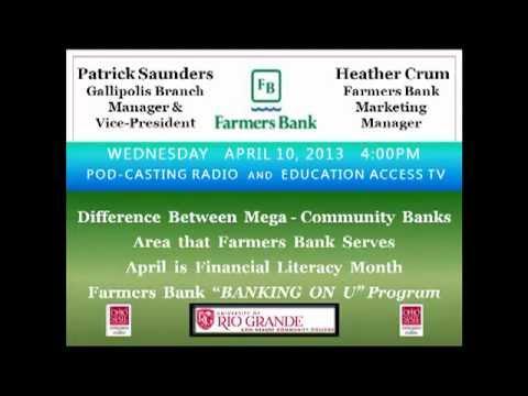 Farmers Bank April 10 2013  at 400 pm