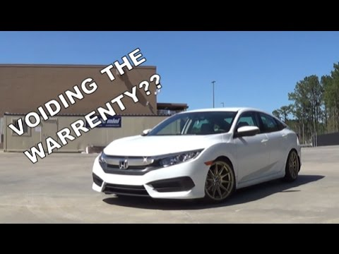 Lowering A Brand New 10th Gen Civic??? - YouTube