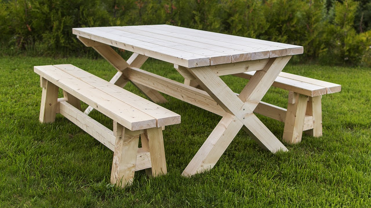Easy Diy Project Farmhouse Table And Benches