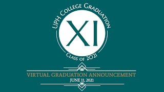 Virtual Graduation Announcement UPH College Class of 2021