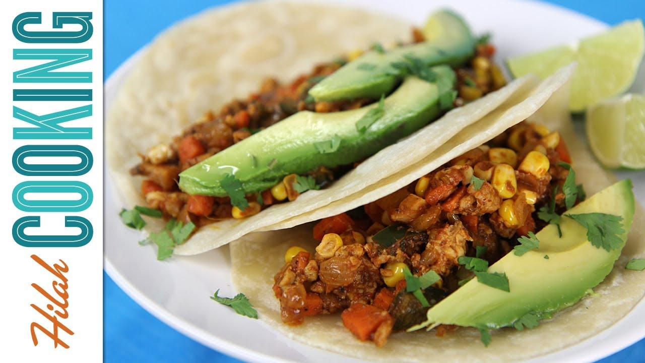 How to Make Vegetarian Tacos! | Hilah Cooking - YouTube