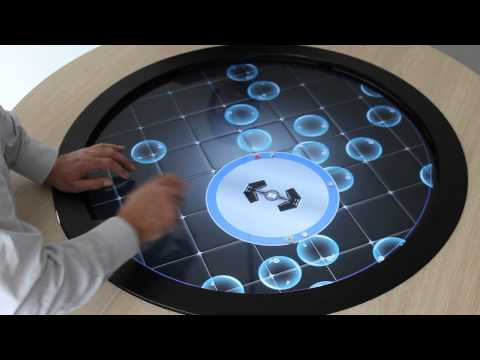 Table tactile ronde multi utilisateurs youtube for Table ronde 6 places