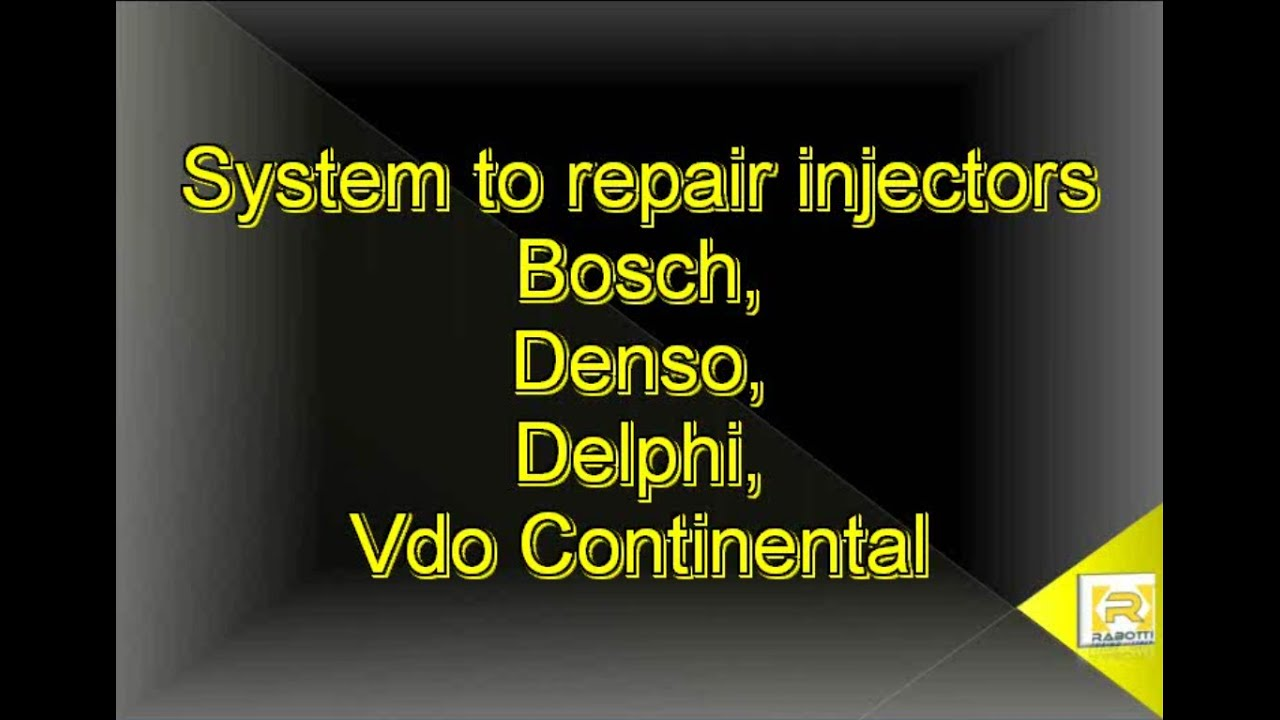 Software to REPAIR INJECTOR: Bosch, Denso, Delphi, VDO