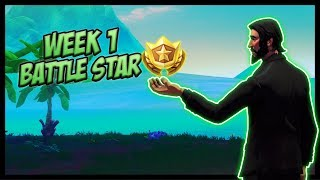 SEASON 9, Week 1 *SECRET* Battle Star Location! (Free Tier) - Fortnite Battle Royale