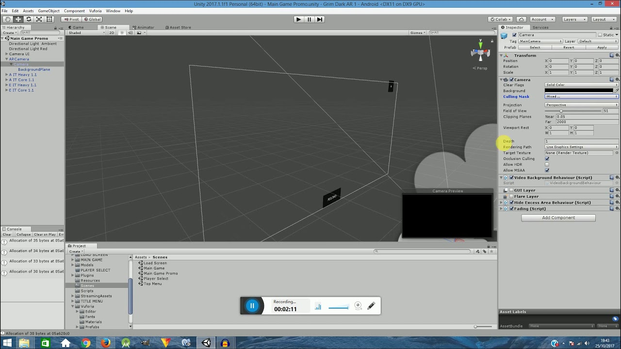 Creating a Unity UI with Vuforia