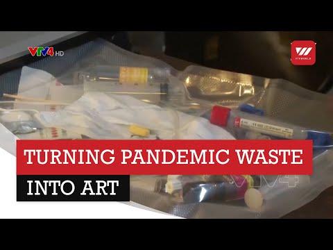 Argentine sculptor turns pandemic waste into art | VTV World