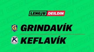 Leikur í Lengjudeildinni á Grindavíkurvelli.