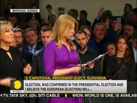 Liberal lawyer Caputova wins election to become Slovakia's first female president