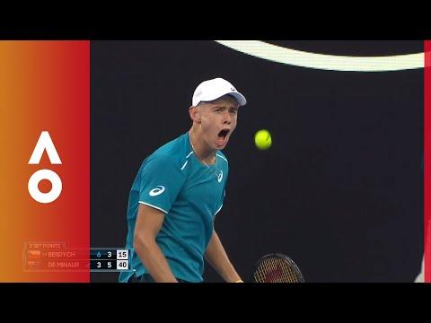 Alex de Minaur exciting set point celebration | Australian Open 2018