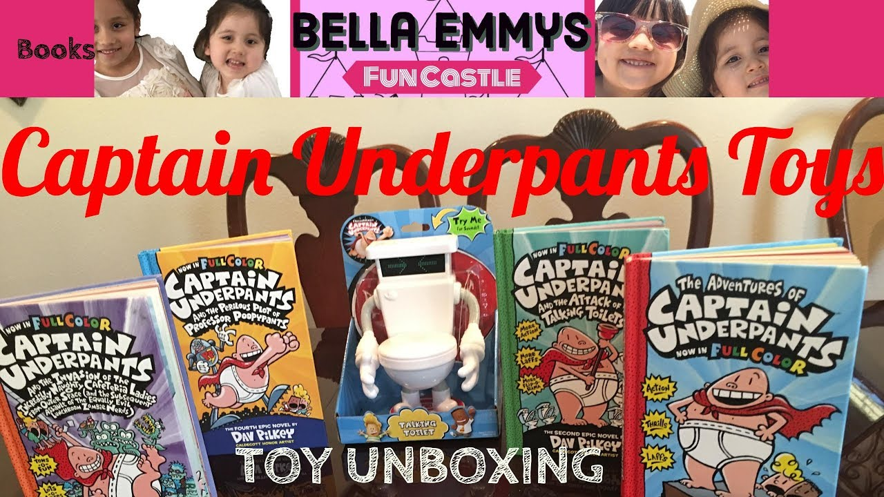 Captain Underpants Toys And Full Color Book Collection Youtube