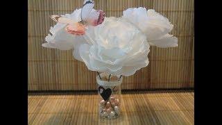 Как сделать розу из гофрированной бумаги. Просто и красиво!