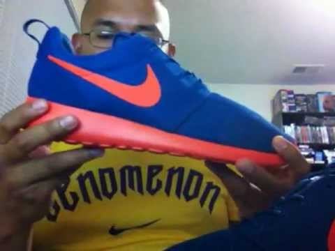 online retailer f1cb0 c56eb Civickid96 Episode 27 Nike Run Roshe Dark Royal Blue Team Orange Colorway