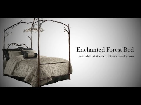How It S Made Enchanted Forest Canopy Bed Youtube