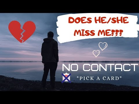 No contact 💔Does He/She miss me? 🔮(Pick a card) - YouTube