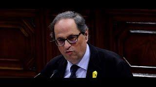 EN DIRECTO, conferencia de Quim Torra sobre el momento político de Cataluña: