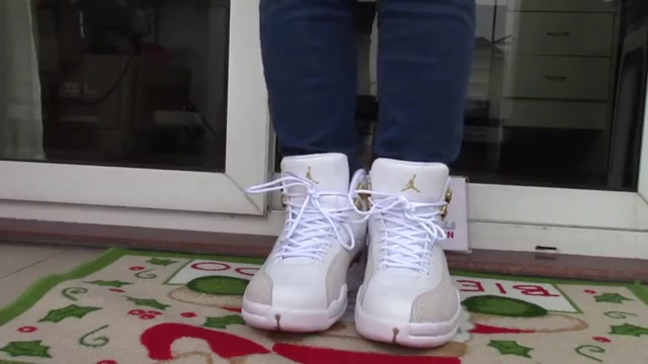 buy popular a4d5c b329c how much  worth it  Air jordan 12 OVO on foot review - YouTube