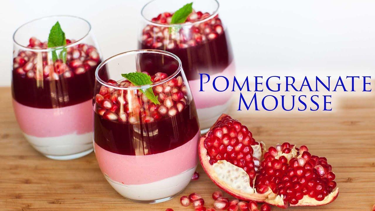 Triple Layer Pomegranate Mousse Dessert - YouTube