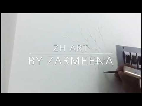 DIY simple wall art for beginners | wall art tutorial 2019.