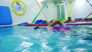 Ava and Ellie -swimming