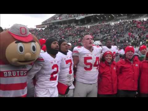 Ohio State players sing Carmen Ohio after 17-16 win at Michigan State - ELEVENWARRIORS.COM