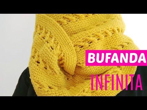 Bufanda infinita crochet paso a paso