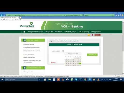Hướng Dẫn In Biên Lai Chuyển Tiền Vietcombank Trong Internet Banking - VCB-iB@nking