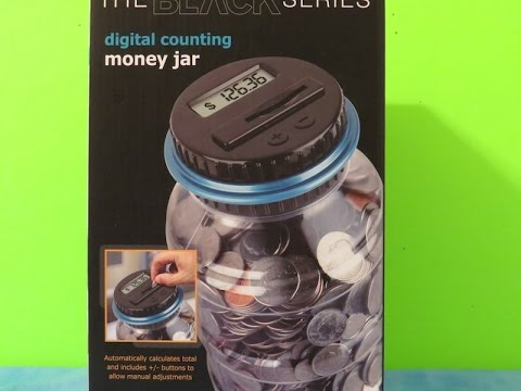 Digital counting money jar (The Black Series)