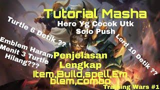 Emblem Haram Ini Bikin Turtle Mati cuma 6 Detik !! Gilaa Boss | Tutorial Masha | Training Wars #1 ML
