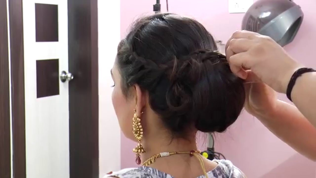 indian asian bridal hairstyle - youtube