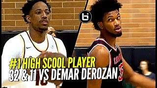#1 High School Player GOES OFF vs NBA ALL-Star DeMar DeRozan!! Marvin Bagley  Drops 32 & 11