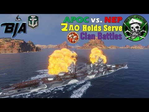 World of Warships- Clan Battles- Zao Holds Serve (APOC vs. NEP)