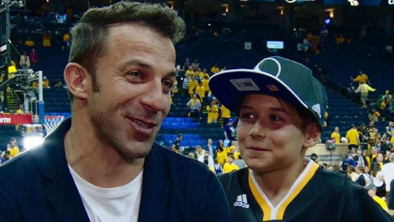 Football Star Alessandro Del Piero At Game 5 of the 2017 NBA Finals - YouTube