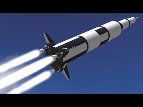 Speed Build of a Saturn V Rocket in SimpleRockets 2 Teaser