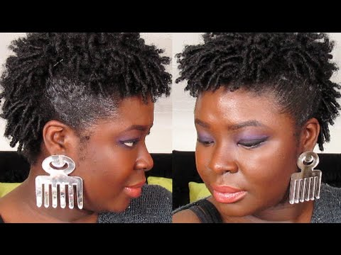 styles for short natural hair faux hawk finger coil out 4a 4b 4c natural hair youtube