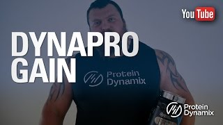 Eddie Hall reviews DynaPro Gain whey protein!