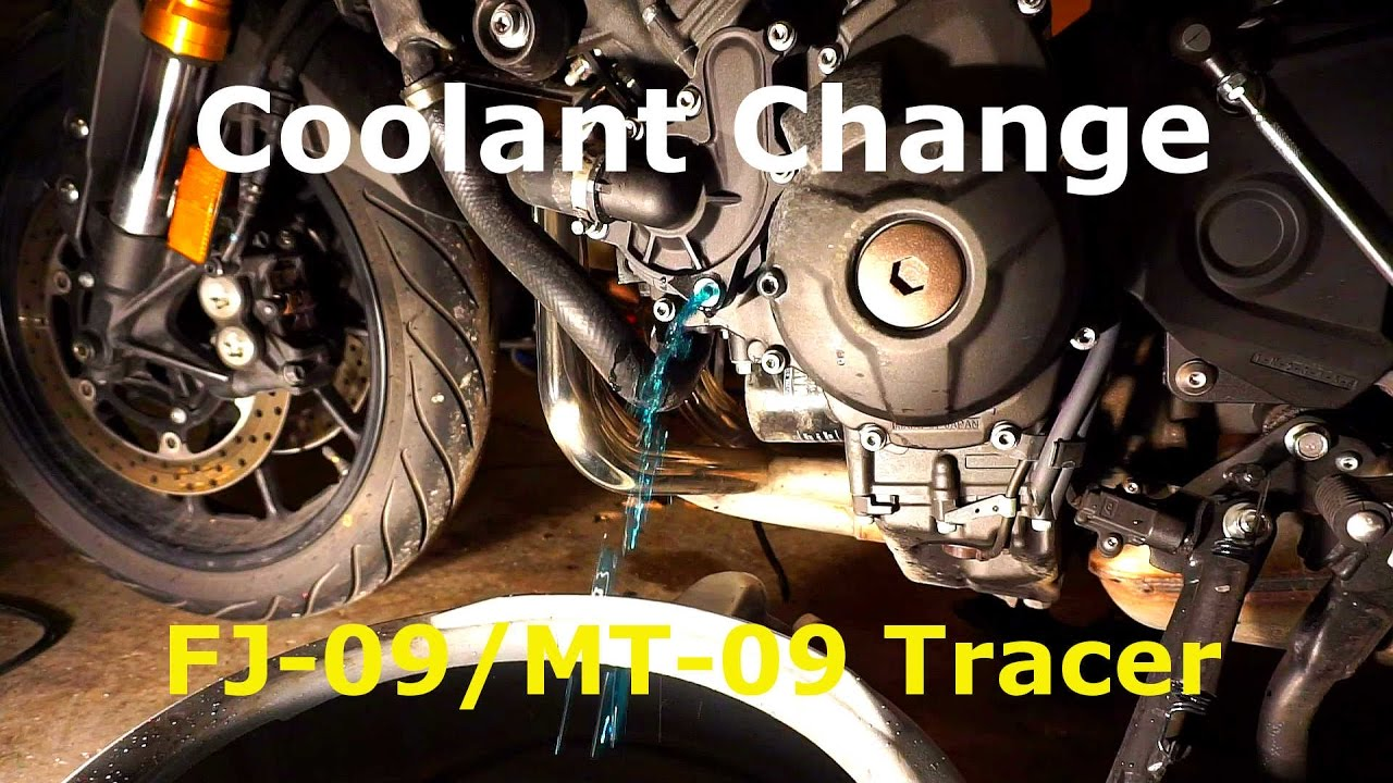 Yamaha FJ-09/MT-09 Tracer/FZ-09 Coolant Change DIY and my thoughts on  Coolant Selection