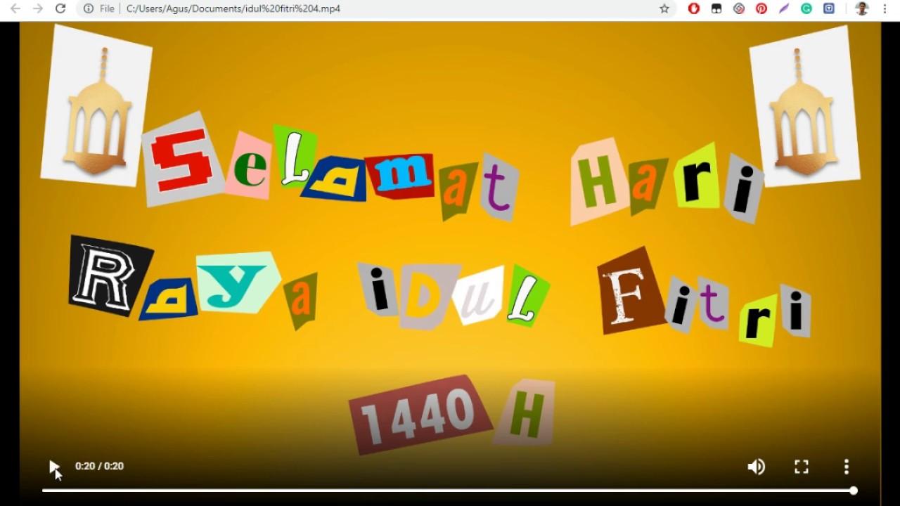 Unduh Template Stop Motion Video Ucapan Idul Fitri
