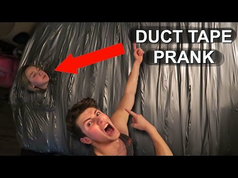 INSANE DUCT TAPE ROOM PRANK (1000 LAYERS!)