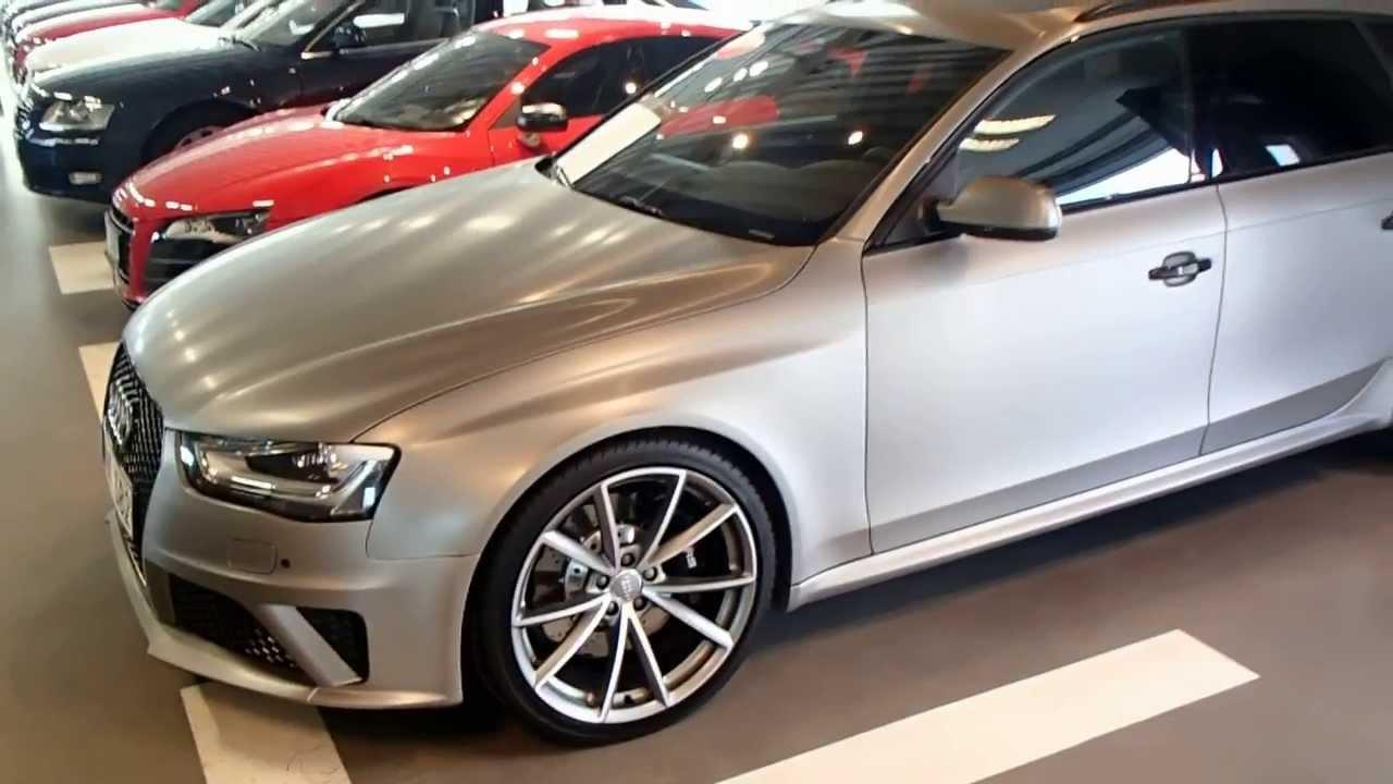 2013 Audi Rs4 Matt Brushed Aluminium Foil Youtube