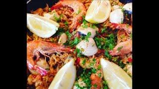 Рецепт ПАЭЛЬЯ Как приготовить Паэлью  с морепродуктами