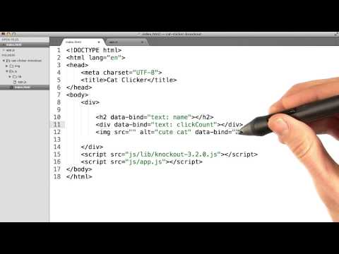 Cat Clicker HTML And Bindings - JavaScript Design Patterns
