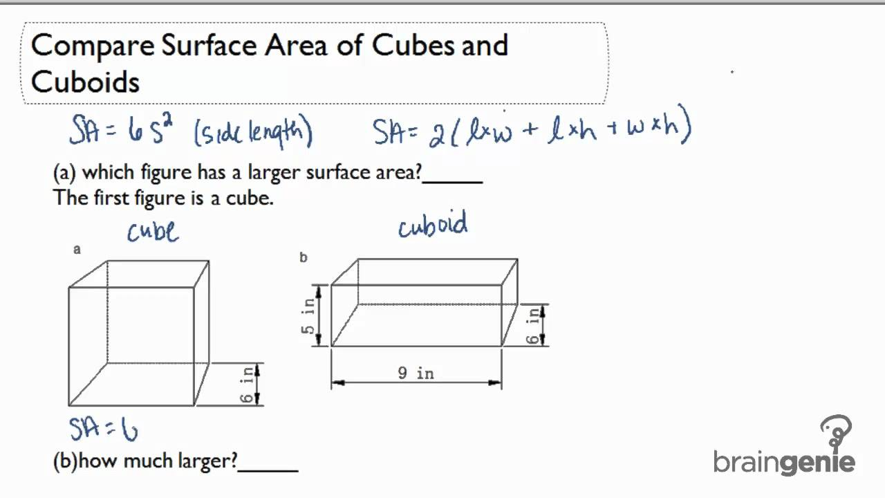 Surface area of Cuboid (solutions, examples, videos)