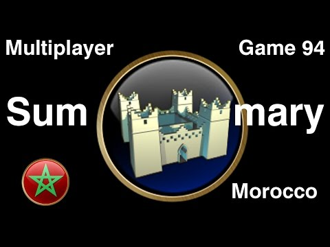 Civilization 5 Multiplayer 94: Morocco [Summary] ( BNW 6 Player Free For All) Gameplay/Commentary